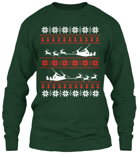 Awesome V 22 Christmas Shirt! Forest Green Long Sleeve T-Shirt Front