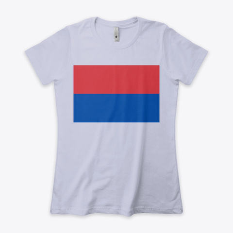 Red And Blue Heather Gray  T-Shirt Front