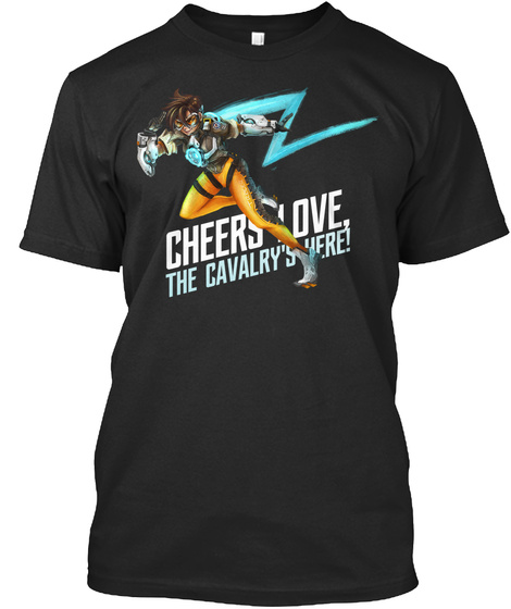 Cheerslove The Cavalry's Here Black T-Shirt Front