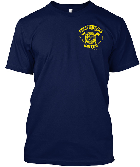 Firefighters United Navy T-Shirt Front