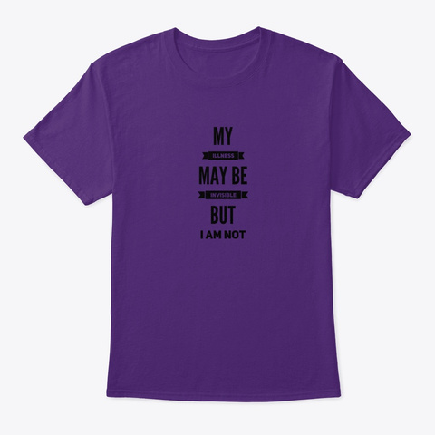 I'm Not Invisible Purple T-Shirt Front