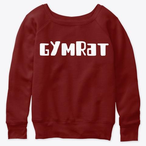 Gym Rat Dark Red Triblend T-Shirt Front