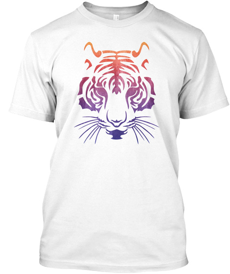 Tiger   Tiger, Animal, Lion, Jungle White T-Shirt Front