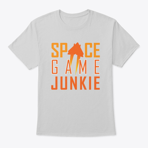 Space Game Junkie Light Steel T-Shirt Front