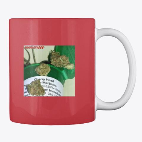 Jimmyinspaz Zz 'cherry Heads' Mug Bright Red Mug Back