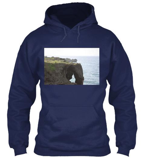 Manzamo Point Navy T-Shirt Front