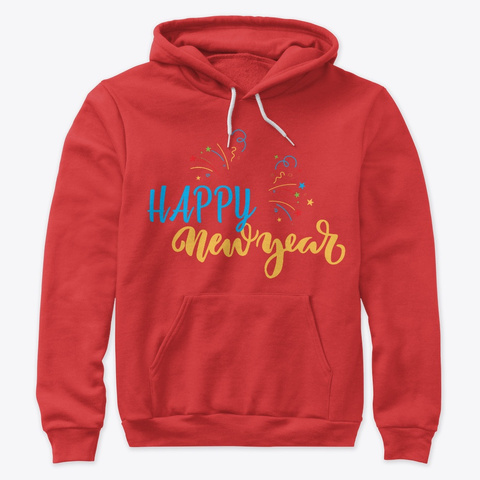 New Year Gifts    Hoodies, Leggings Red T-Shirt Front