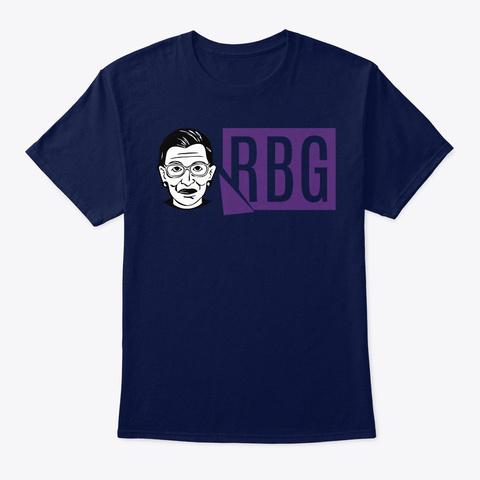Ruth Bader Ginsburg Rbg  Womens Right Navy Camiseta Front