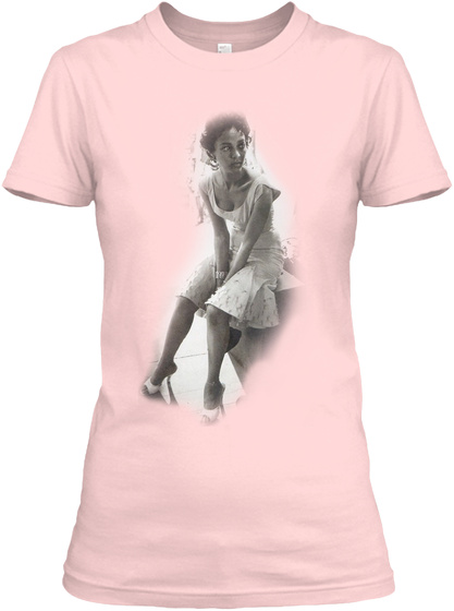 Black Monroe  Light Pink T-Shirt Front