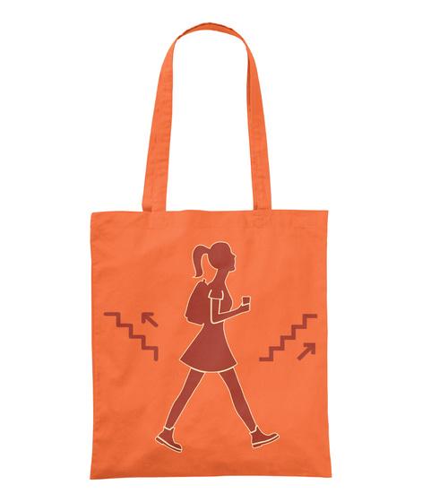 Sac Randonnée   Deux Couleurs Pour L'été Orange T-Shirt Front