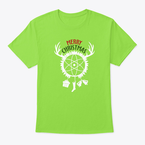 Christmas Gift Eve Santa Christmas Clau Lime T-Shirt Front