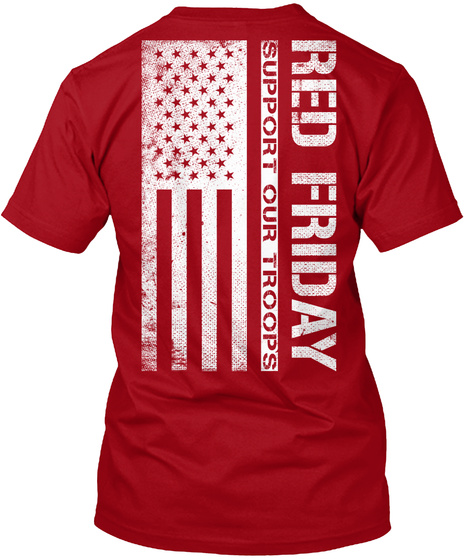 Red friday red shirts wear red on friday red friday for Red support our troops shirts