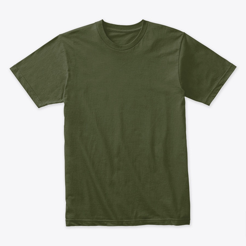 Survival And Prepper Logo Military Green T-Shirt Front