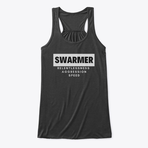 Swarmer Boxing Style Dark Grey Heather T-Shirt Front