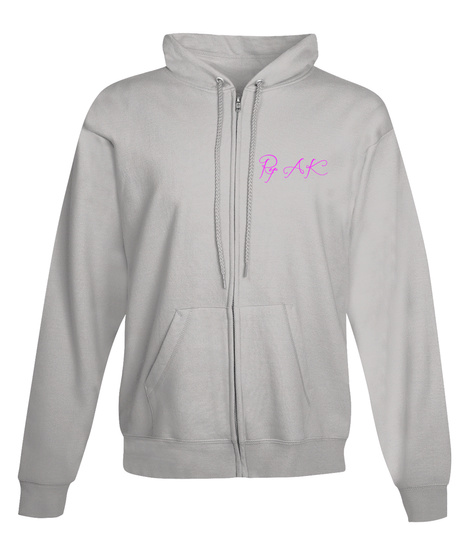 Fireweed Zip Up Hoodie! Light Steel Sweatshirt Front