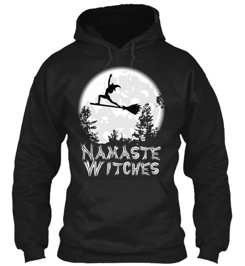 Namaste Witches Black T-Shirt Front