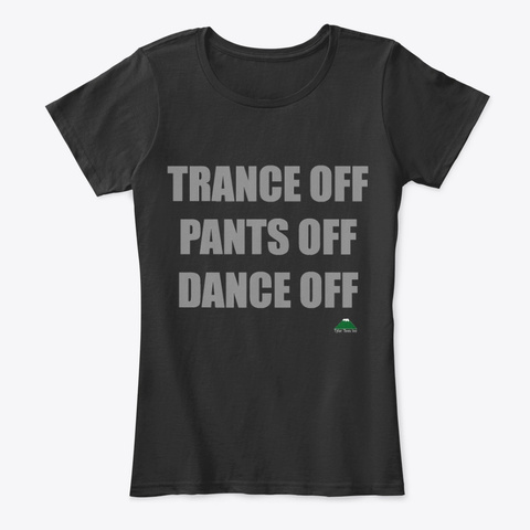 Trance Off Black T-Shirt Front