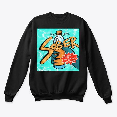 Sober  Black T-Shirt Front