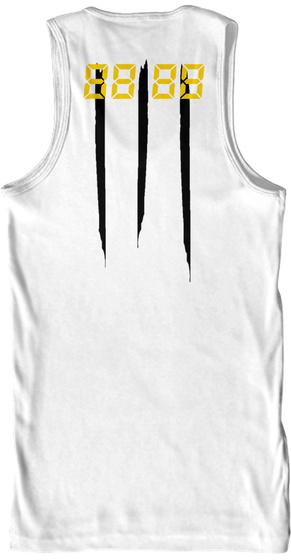 88 88 White T-Shirt Back