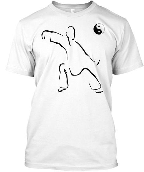 Tai Chi Art Martial Martial Art White T-Shirt Front