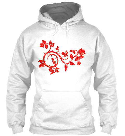 Ruby Roses And Vines White T-Shirt Front