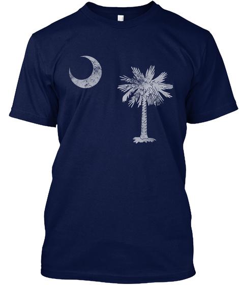 Vintage South Carolina Flag Navy T-Shirt Front