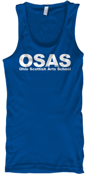 Osas Ohio Scottish Arts School Royal Tank Top Front