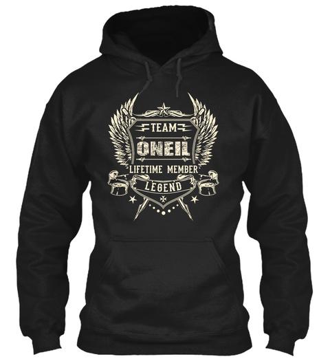 Team Oneil Lifetime Member Legend Black T-Shirt Front