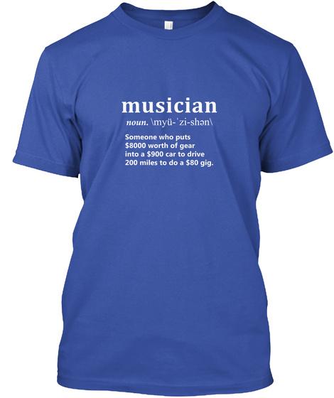 Musician Royal T-Shirt Front