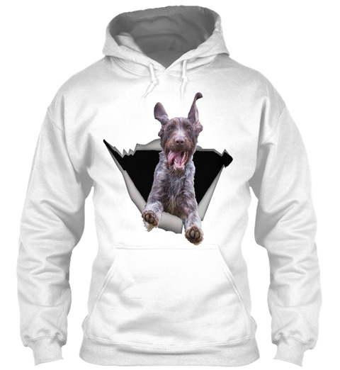 Sticker Car  Wirehaired Pointers White T-Shirt Front