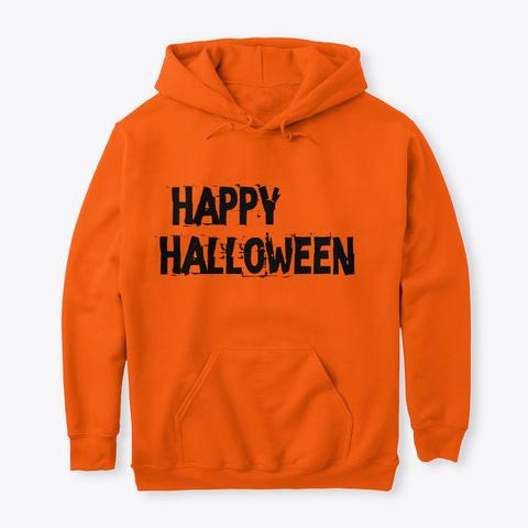 Happy Halloween! It's Spooky Season! Safety Orange T-Shirt Front