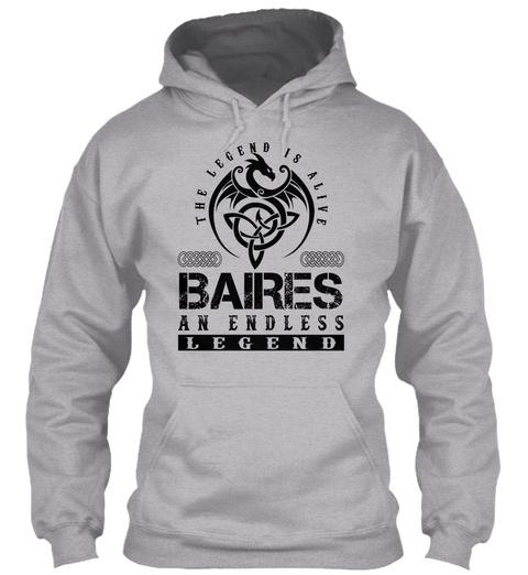 Baires   Legends Alive Sport Grey T-Shirt Front