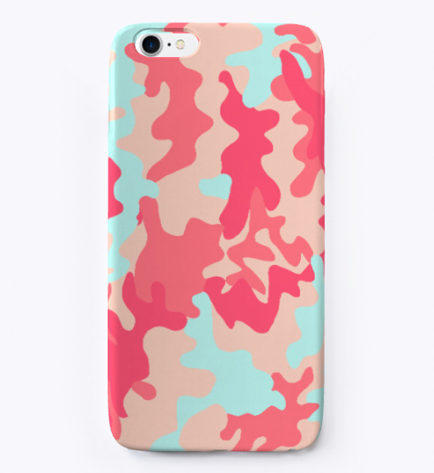 Pink Camo I Phone Case Standard T-Shirt Front
