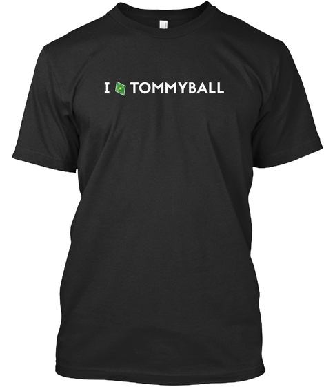 I Tommyball Black T-Shirt Front