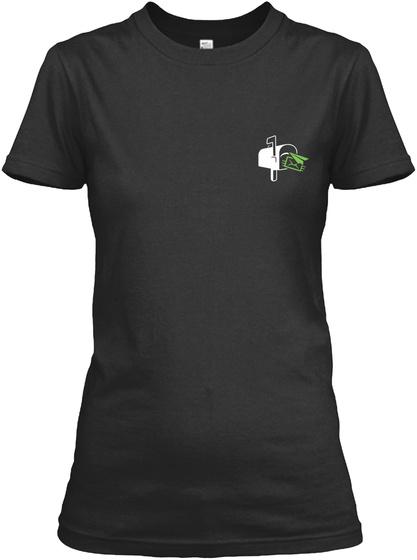 Proud Postal Worker Shirt Black T-Shirt Front