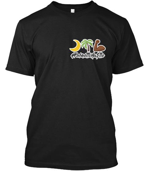 #Palmetto Hustle Black T-Shirt Front