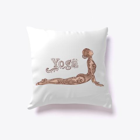 Yoga Pillow White T-Shirt Front