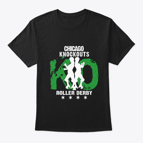 Chicago Knockouts Haunter Green Black T-Shirt Front