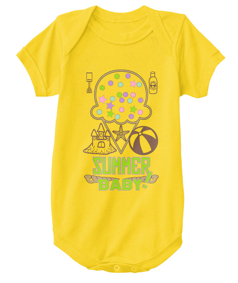 Summer ! Baby Yellow  T-Shirt Front