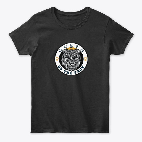 Queen Of  The Pack Black T-Shirt Front