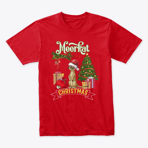 Meerkat Christmas Red T-Shirt Front