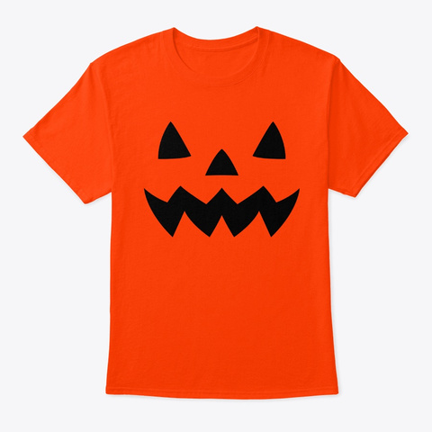 Jack O'lantern Halloween Pumpkin Apparel Orange T-Shirt Front