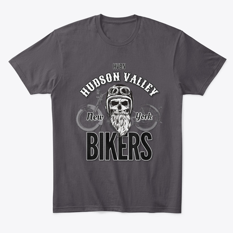 Hv Bikers Tee And Accessories Heathered Charcoal  T-Shirt Front
