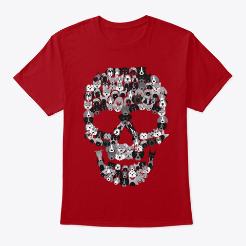 Skull Dogs Deep Red T-Shirt Front