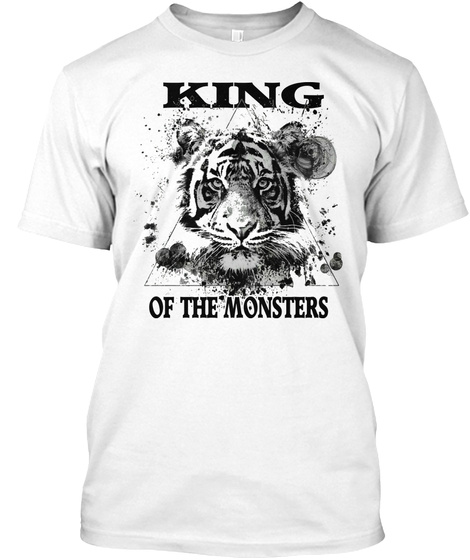 Tiger   King Of The Monster White T-Shirt Front