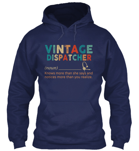 Vintage Dispatcher Navy T-Shirt Front