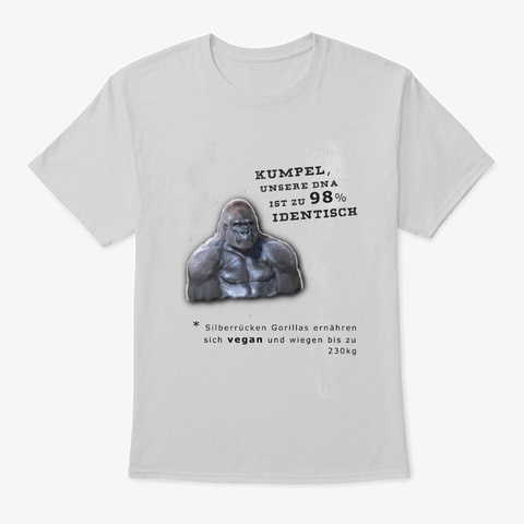 Silberrücken Sind Veganer Light Steel T-Shirt Front