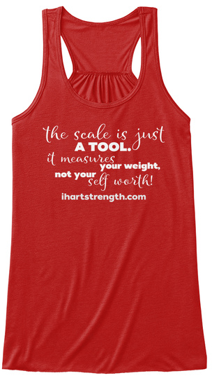 Scale Is A Tool   White Red Women's Tank Top Front