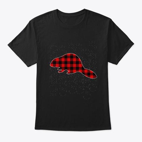 Merry Beaver Christmas T Shirt Black T-Shirt Front