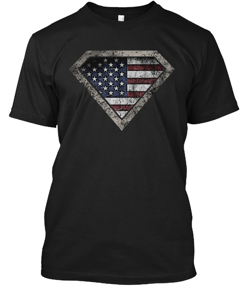 Soldiers: American Heroes Black T-Shirt Front